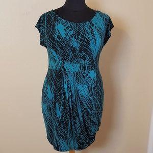 💜 Teal Summer Sheath Mini Dress